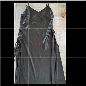Victoria Secret Satin  lace up night slip